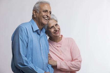 Portrait of senior couple smiling Foto de archivo