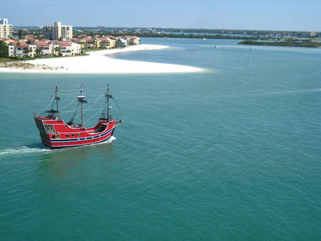 Clearwater beach pirate ship Stock Photo
