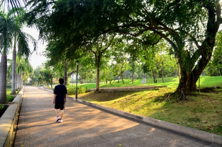 Alone in th Park,Thailand photo