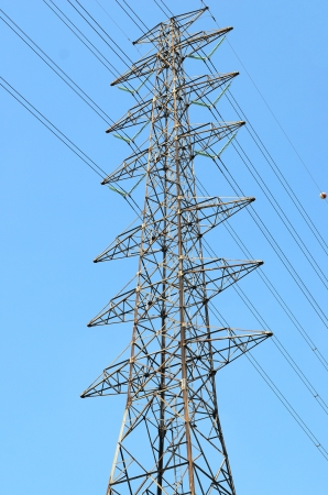 High voltage pole photo