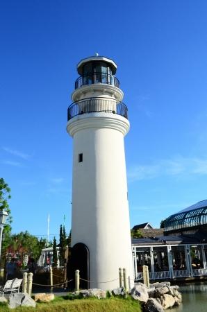 beach closed: Lighthouse