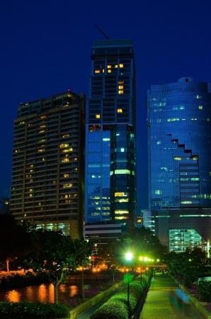 Building at night  photo