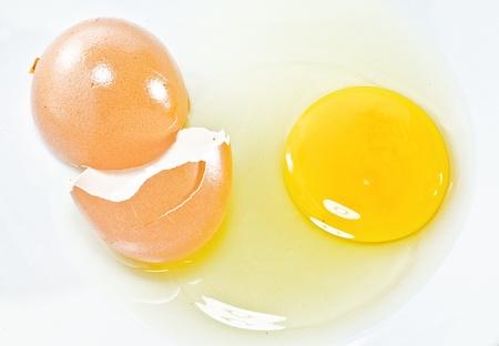 Cracked eggs photo