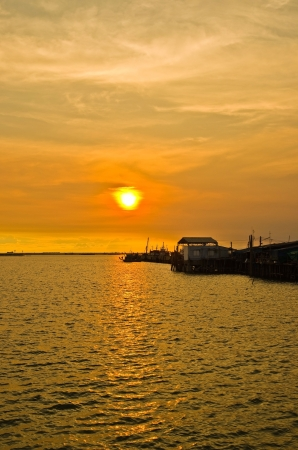 inlet bay: Port at Sunset