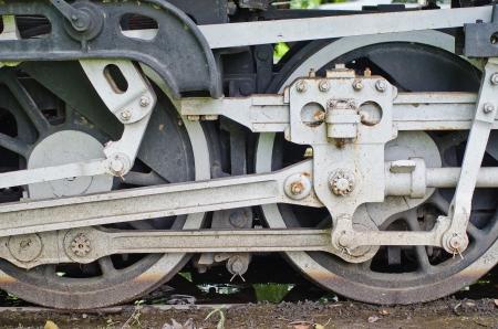 Steam train wheels photo