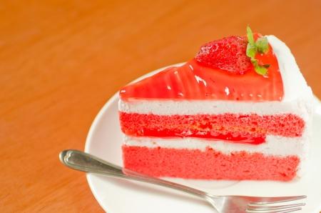 shortcake: Strawberry Cake Stock Photo
