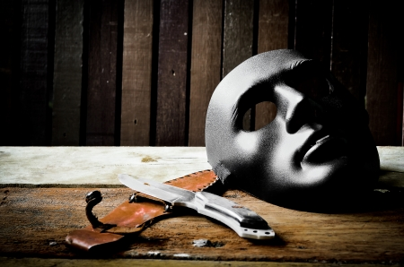 Mask with knife  photo