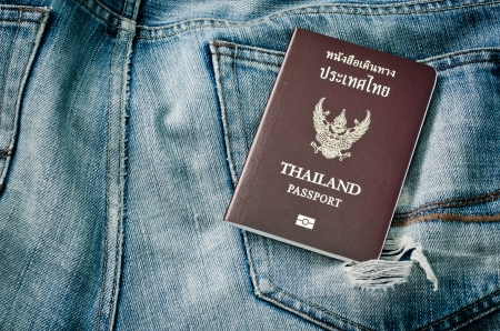 passport  of thailand photo