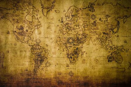 carte du monde: vieille carte