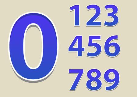 Numbers 0-9  Vector