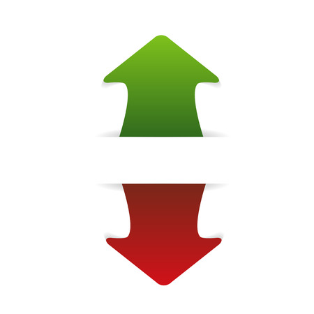 arrow up and down  Illustration