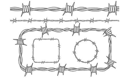 razor wire: vector of barb