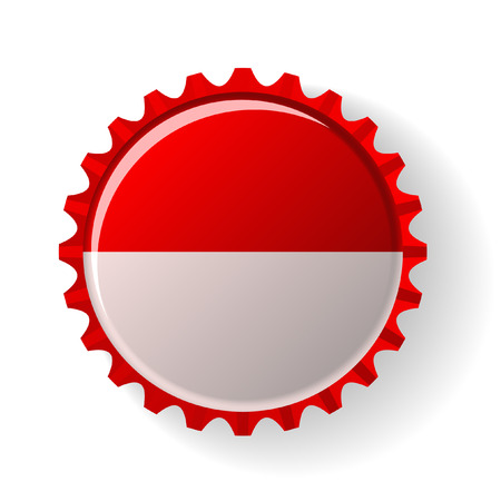 Republic of Indonesia on bottle caps Vector