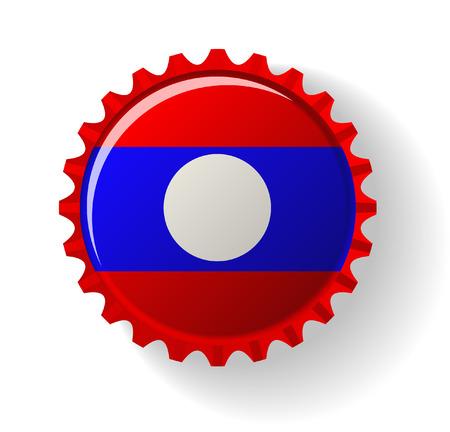 Republic of Singapore on bottle caps Vector