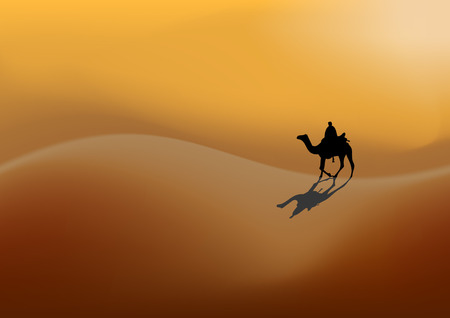 droopy: camel Illustration