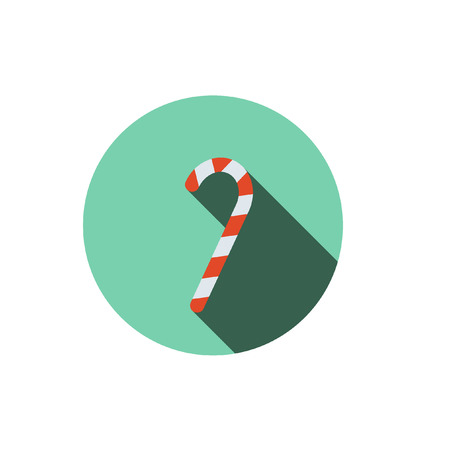 candycane: Cane Christmas ,Flat style with long shadows Illustration