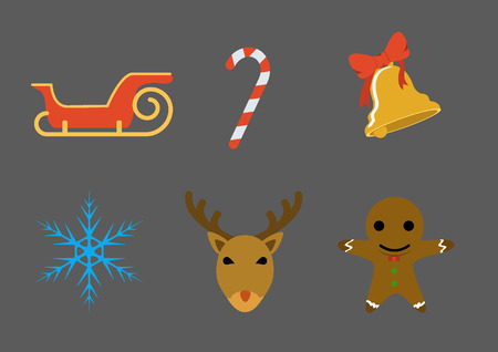 Christmas icon,Flat style Vector