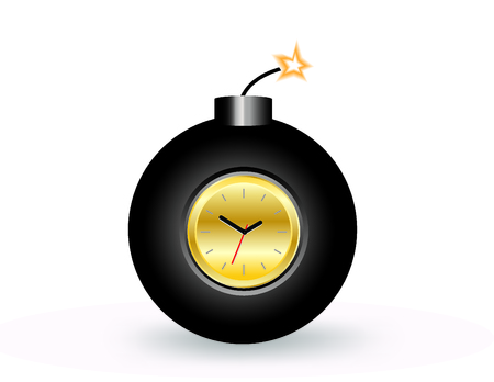 BOMB WITH CLOCK