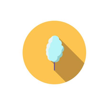 cotton: cotton Candy,Flat Illustration