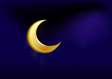 rescent moon Vector