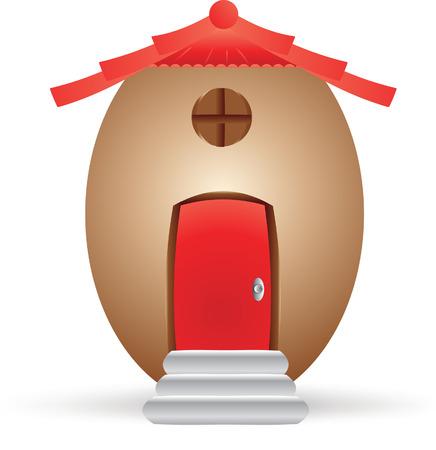 Egg house Vector