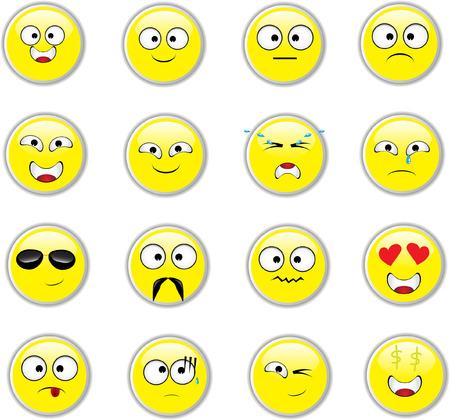 Vector set of Emoticons Illustration