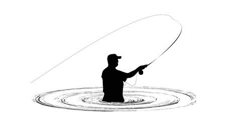 fisherman: Fisherman in water