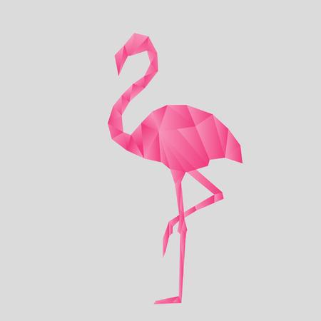 flamenco ave: Flamingo Origami Estilo