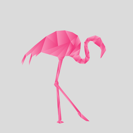 Flamingo Origami Style Royalty Free Cliparts Vectors And Stock
