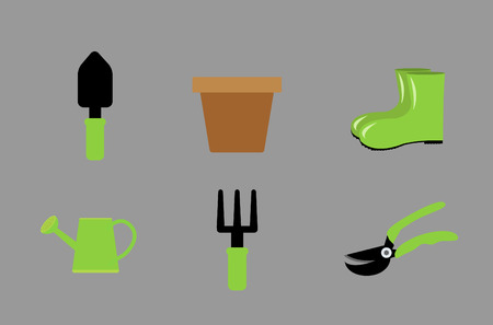 garden tools icon ,Flat style