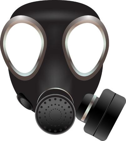 chemical warfare: Gas mask vector