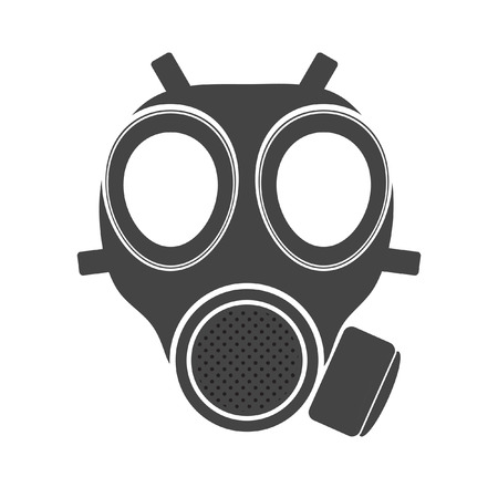 chemical weapons: Gas mask vector