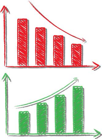 stockmarket chart: graph Illustration
