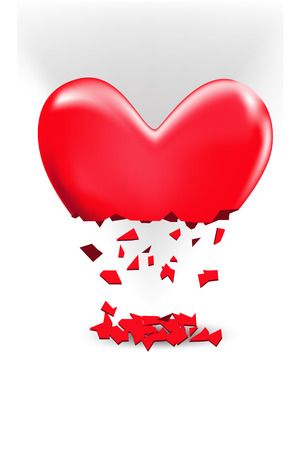 distressing: Broken heart