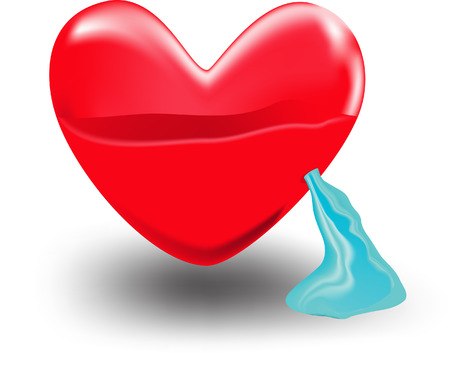 distressing: Heart water Illustration