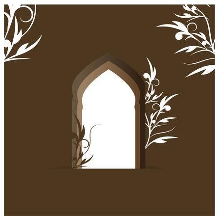 islamic art arch Vector