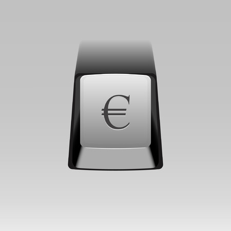 Keyboard Button With Euro Symbol Royalty Free Cliparts Vectors And