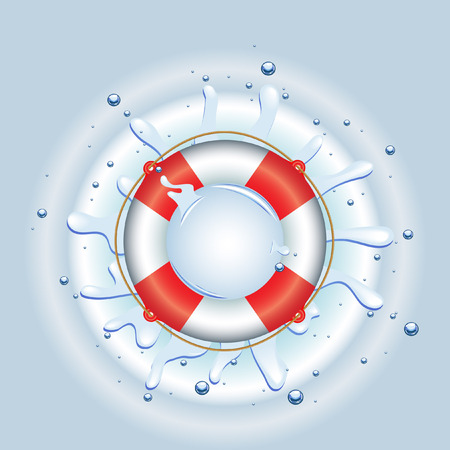 rescue circle: Life Ring in water