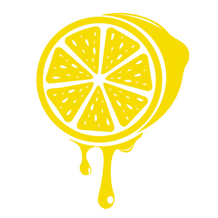 lemon wedge: lemons Illustration