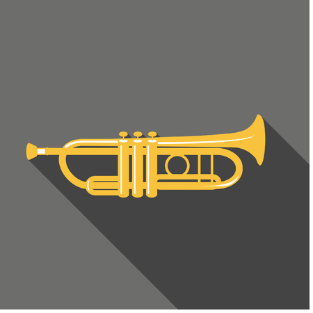 trumpet isolated: Vector Trumpet