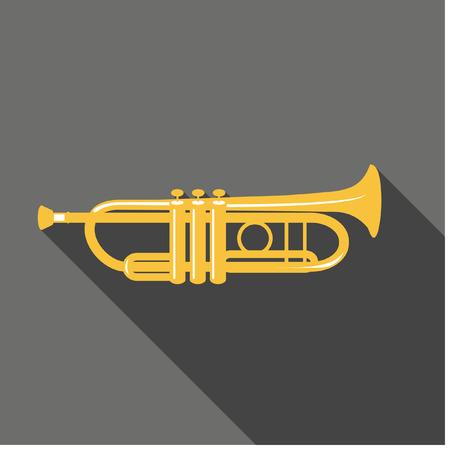 brass wind: Vector Trumpet