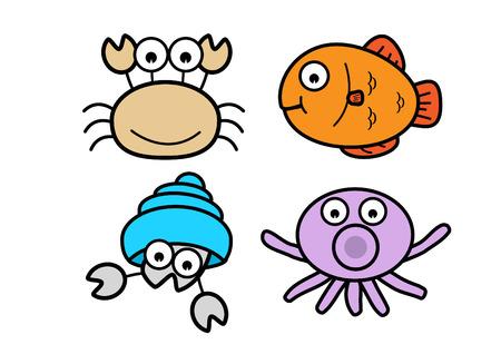 susi: Crab, fish, squid, shellfish