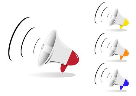 amplified: megaphone Illustration