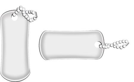 dangle: military dog tags