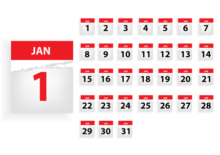 months: jan Vector months calender Illustration