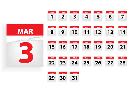 months: Vector months calender Illustration