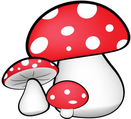 food poison: Red Mushrooms