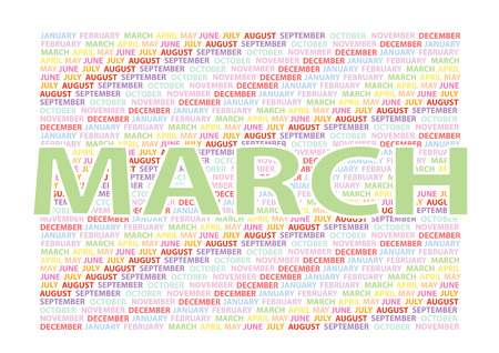 months: Vector months and background Illustration