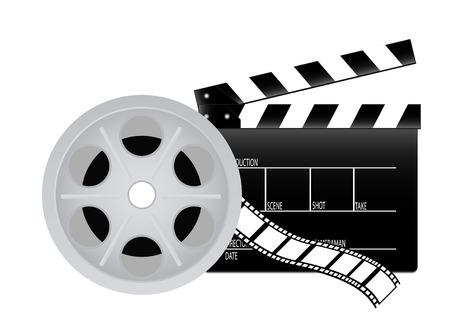 movie clapper: Valvola di film Vettoriali