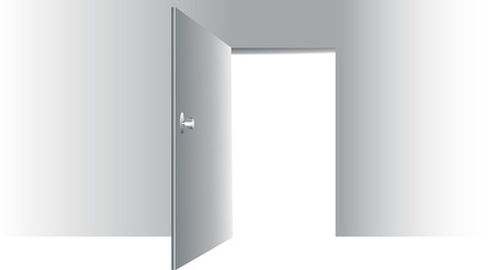 unclosed: Open door Illustration